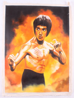 "Hector Monroy Signed ""Bruce Lee"" 26x34 Original Oil Painting on Canvas (PA LOA) at PristineAuction.com"