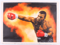"""Hector Monroy Signed """"Mike Tyson"""" 26x34 Original Oil Painting on Canvas (PA LOA) at PristineAuction.com"""