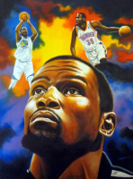 "Hector Monroy Signed ""Kevin Durant"" 26x34 Original Oil Painting on Canvas (PA LOA)"