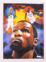 "Hector Monroy Signed ""Kevin Durant"" 26x34 Original Oil Painting on Canvas (PA LOA) at PristineAuction.com"