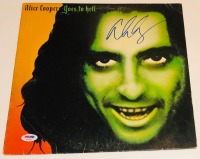 "Alice Cooper Signed ""Goes To Hell"" Vinyl Album Cover (PSA COA) at PristineAuction.com"