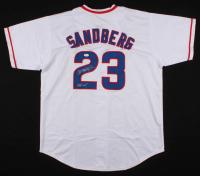 """Ryne Sandberg Signed Chicago Cubs Jersey Inscribed """"HOF 05"""" (JSA COA)"""