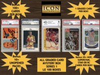 Icon Authentic Graded Card Series 1 Mystery Box (100+ Cards per Box) at PristineAuction.com