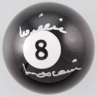 Willie Mosconi Signed #8 Pool Ball (Beckett COA) at PristineAuction.com
