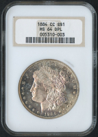 1884-CC $1 Morgan Silver Dollar - Deep Prooflike (NGC MS 64 DPL)