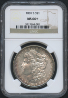 1881-S $1 Morgan Silver Dollar (NGC MS 66+)