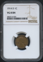 1914-D 1¢ Lincoln Cent - Wheat Reverse (NGC VG 8 RB)