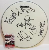 "Fred Durst, Sam Rivers & John Otto Signed 14"" Drum Head (JSA COA)"