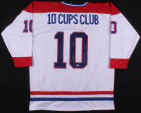 """Henri Richard, Jean Beliveau, & Yvan Cournoyer Signed Jersey Inscribed """"11 Cups"""" & """"10 Cups"""" (Beckett LOA) at PristineAuction.com"""
