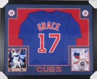 Mark Grace Signed Chicago Cubs 35x43 Custom Framed Jersey (JSA COA)