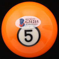 Willie Mosconi Signed #5 Pool Ball (Beckett COA) at PristineAuction.com