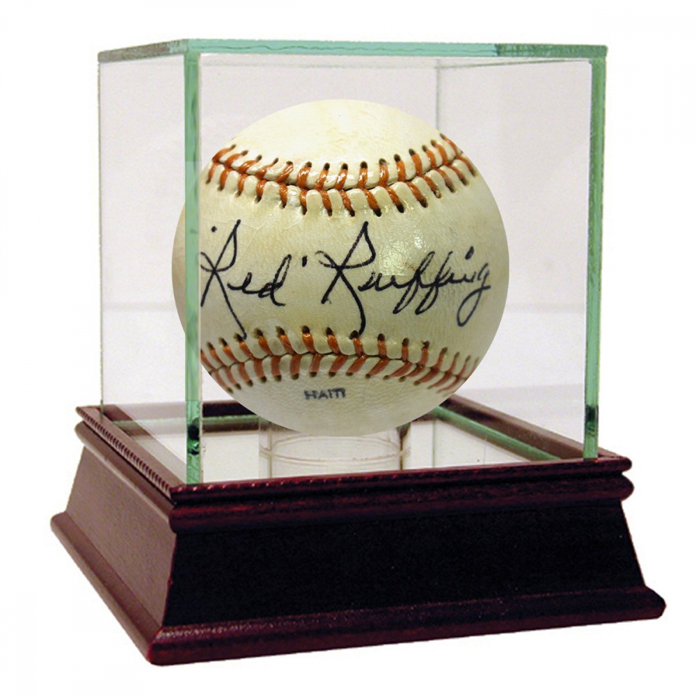 Red Ruffing Signed Baseball with High Quality Display Case (PSA Hologram) at PristineAuction.com