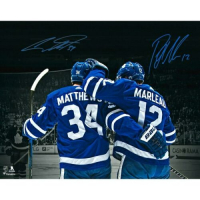 Auston Matthews & Patrick Marleau Signed Toronto Maple Leafs 16x20 Photo (Fanatics Hologram) at PristineAuction.com