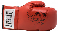 "James ""Buster"" Douglas Signed Everlast Boxing Glove Inscribed ""Tyson KO"" & ""2/11/90"" (JSA COA)"