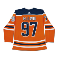 "Connor McDavid Signed Edmonton Oilers Limited Edition Jersey Inscribed ""41 G, 67 A, 108 Pts"" (UDA COA) at PristineAuction.com"