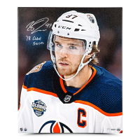 "Connor McDavid Signed Edmonton Oilers 20x24 Limited Edition Photo on Canvas Inscribed ""18 Global Series"" (UDA COA) at PristineAuction.com"