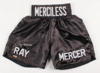 """Ray Mercer Signed """"Merciless"""" Boxing Shorts (MAB Hologram)"""