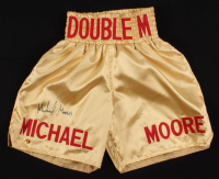 "Michael Moorer Signed ""Double M"" Boxing Shorts (MAB Hologram)"