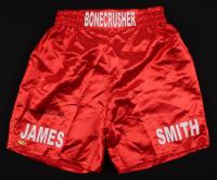 """James """"Bonecrusher"""" Smith Signed Boxing Shorts (MAB Hologram)"""