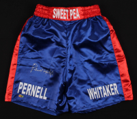 """Pernell """"Sweet Pea"""" Whitaker Signed Boxing Shorts (MAB Hologram)"""