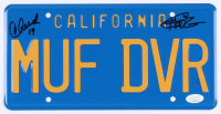"""Cheech Marin & Tommy Chong Signed """"Up in Smoke"""" License Plate Inscribed """"19"""" (JSA COA) at PristineAuction.com"""