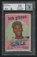 Bob Gibson Signed 1959 Topps #514 RC (JSA Encapsulated) at PristineAuction.com