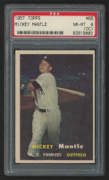 1957 Topps #95 Mickey Mantle (PSA 8) (OC)
