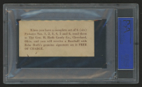 1928 Babe Ruth Candy Company E-Unc. #4 Babe Ruth (PSA 3) at PristineAuction.com