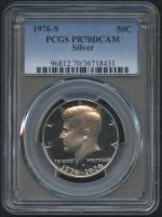 1976-S 50¢ Kennedy Silver Half Dollar - Proof - Deep Cameo (PCGS PR 70 DCAM) at PristineAuction.com