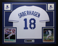 Bret Saberhagen Signed 35x43 Custom Framed Jersey (JSA COA) at PristineAuction.com