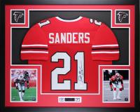 Deion Sanders Signed 35x43 Custom Framed Jersey (JSA COA) at PristineAuction.com