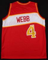Spud Webb Signed Atlanta Hawks Jersey (JSA COA)