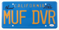 "Cheech Marin & Tommy Chong Signed ""Up in Smoke"" License Plate (JSA COA) at PristineAuction.com"