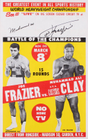 "Muhammad Ali ""AKA Cassius Clay"" & Joe Frazier Signed ""Fight of the Century"" 14x22 Original 1971 Fight Poster (JSA ALOA)"