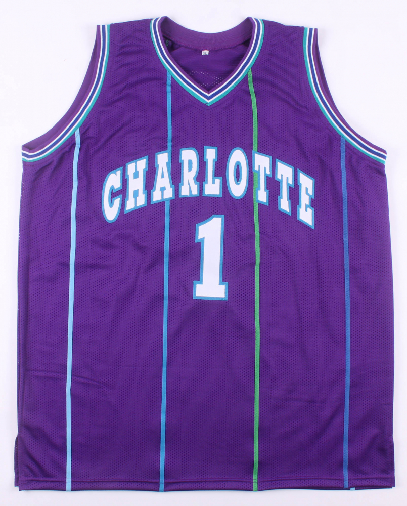 46c23f8d65c Muggsy Bogues Signed Charlotte Hornets Jersey (JSA COA) at  PristineAuction.com