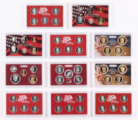 Lot of (6) United States Mint Silver Proof Sets with (3) 2004-2006 State Quarters Sets & (3) 2006-2010 Mint Silver Proof Sets