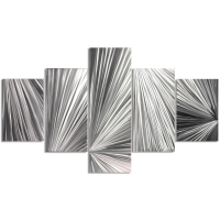 """""""Columnar Light"""" 0.5x36x64 Abstract Metal Art by Helena Martin at PristineAuction.com"""