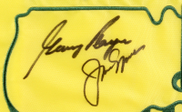 Arnold Palmer, Jack Nicklaus & Gary Player Signed Augusta National Golf Club Masters Tournament 25.25x27.25 Custom Framed Card & Flag Display (JSA LOA & PSA LOA) at PristineAuction.com