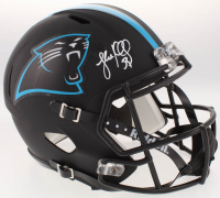 Luke Kuechly Signed Carolina Panthers Full-Size Custom Matte Black Speed Helmet (JSA COA)