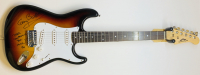 "Gary Busey Signed Full-Size Electric Guitar Inscribed ""Never Compromise Your Music! - BH"" (JSA COA)"