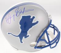 Barry Sanders Signed Detroit Lions Throwback Full-Size Helmet (Beckett COA & Schwartz Hologram)