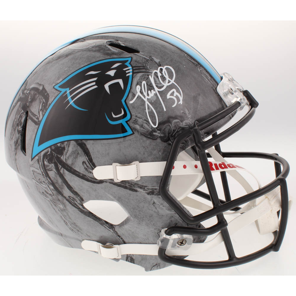 Luke Kuechly Autographed Signed Carolina Panthers Football Ball Jsa Coa Autographs-original Balls
