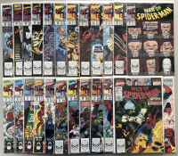 """Lot of (24) 1989-1991 Marvel """"Web of Spider-Man"""" Comic Books with 1st Series #52-76 & Annual #6 & #7"""