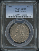 1832 50¢ Capped Bust Half Dollar - Small Letters (PCGS AU 55)