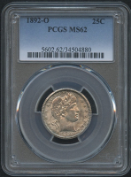 1892-O 10¢ Barber Dime (PCGS MS 62) at PristineAuction.com