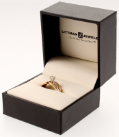 14k Gold Diamond Ring with Box