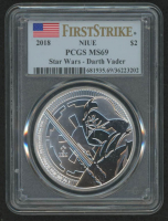 2018 $2 Two Dollar Silver Niue Darth Vader Coin (PCGS MS69)