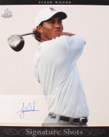 2005 SP Signature Shots Portrait 8 x 10 #2 Tiger Woods White Shirt