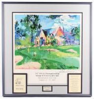 "Davis Love III & LeRoy Neiman Signed ""79th PGA Championship Winged Foot Golf Club"" 26.25x27.5 Custom Framed Lithograph Display (JSA ALOA)"