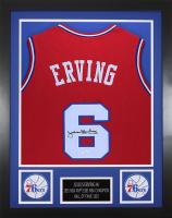 Julius Erving Signed 24x30 Custom Framed Jersey (JSA COA) at PristineAuction.com